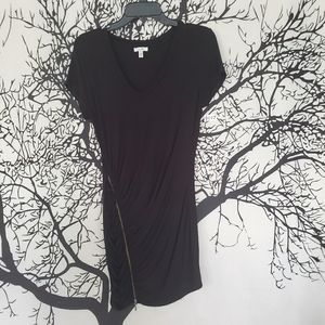 CACHÉ LBD Little Black Dress Zipper Ruched Mini M